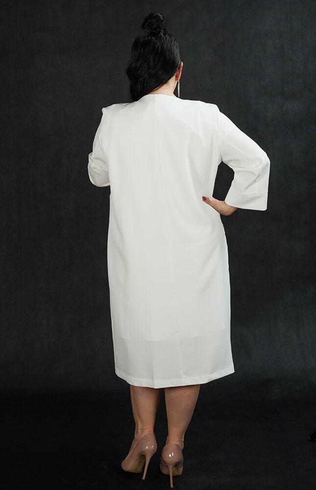 Komplet ELENI Elegancki Sukienka Płaszczyk
