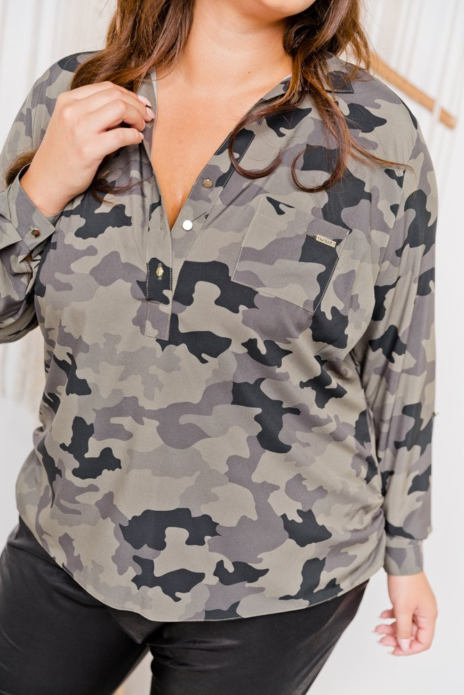 Koszula NIBIS Plus Size wzór 2