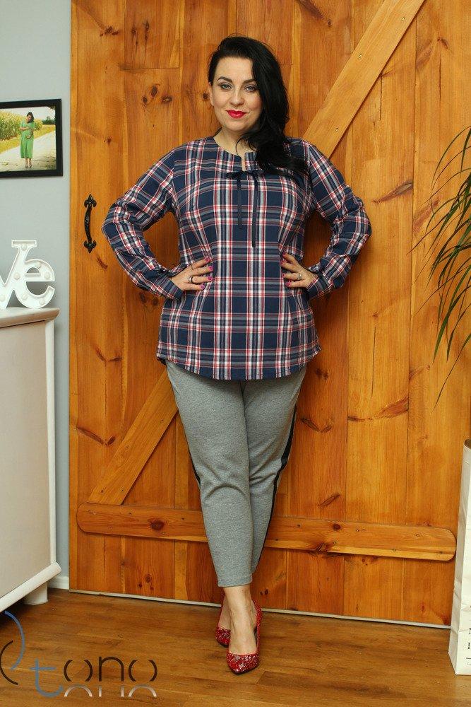 Koszula damska FANCY Krata Plus Size