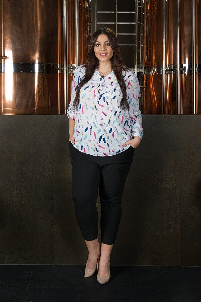 Koszula damska GIADA Pióra Plus Size