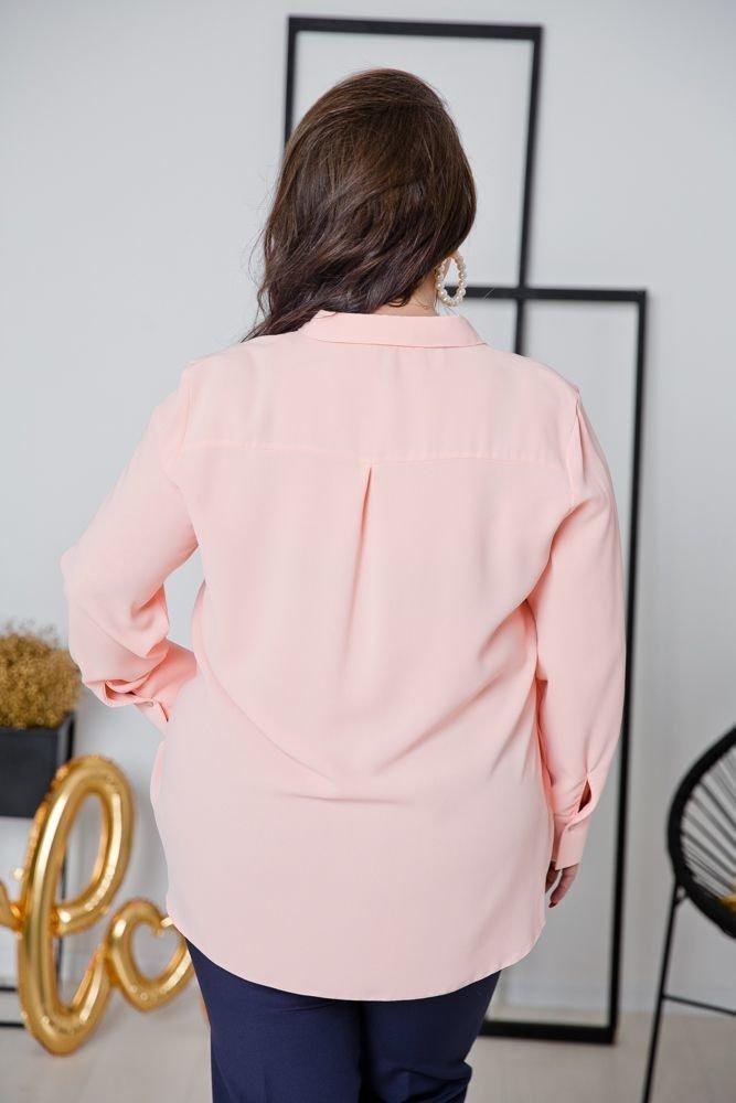 Łososiowa Koszula ARTESIA Plus Size