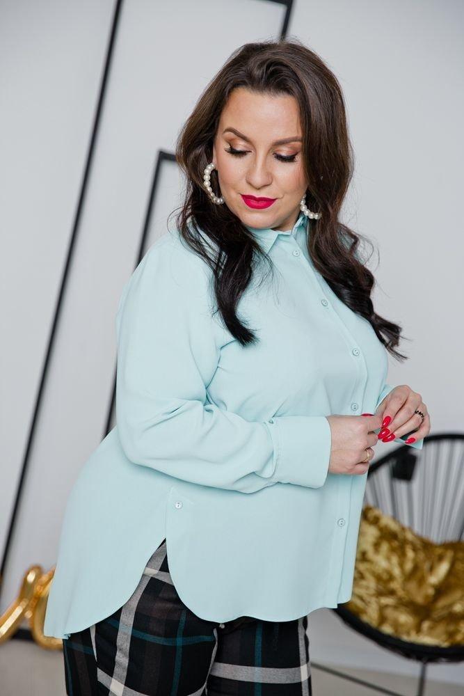 Miętowa Koszula ARTESIA Plus Size
