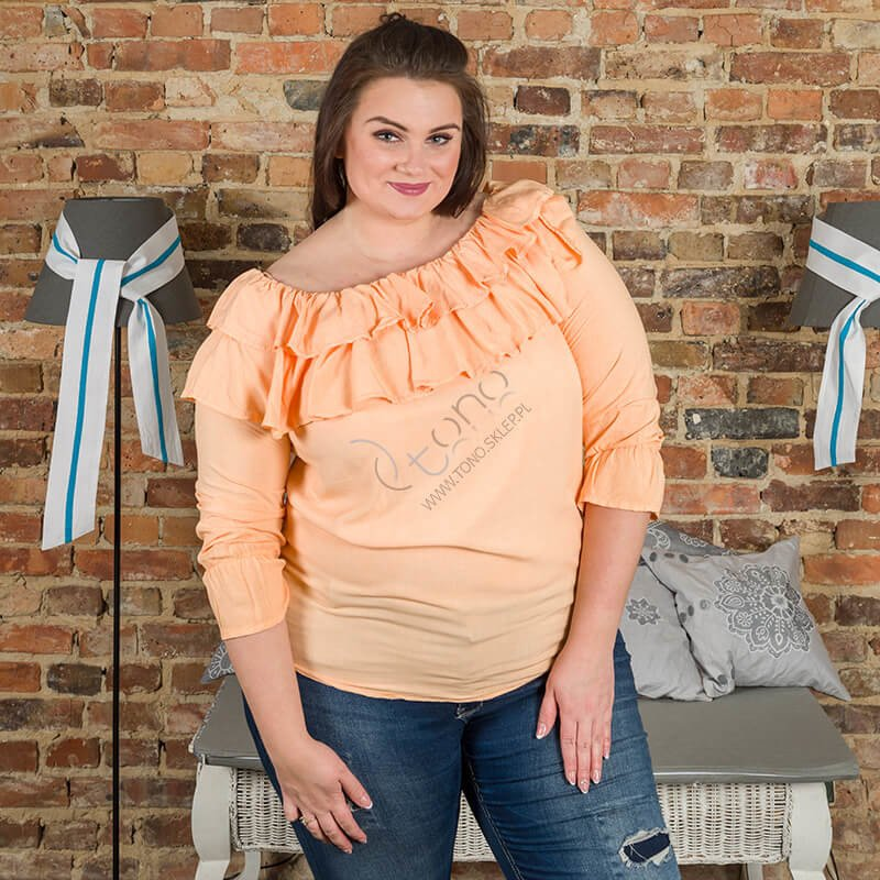 Morelowa Bluzka BASTIA Hiszpanka Koszulowa Modna Plus Size