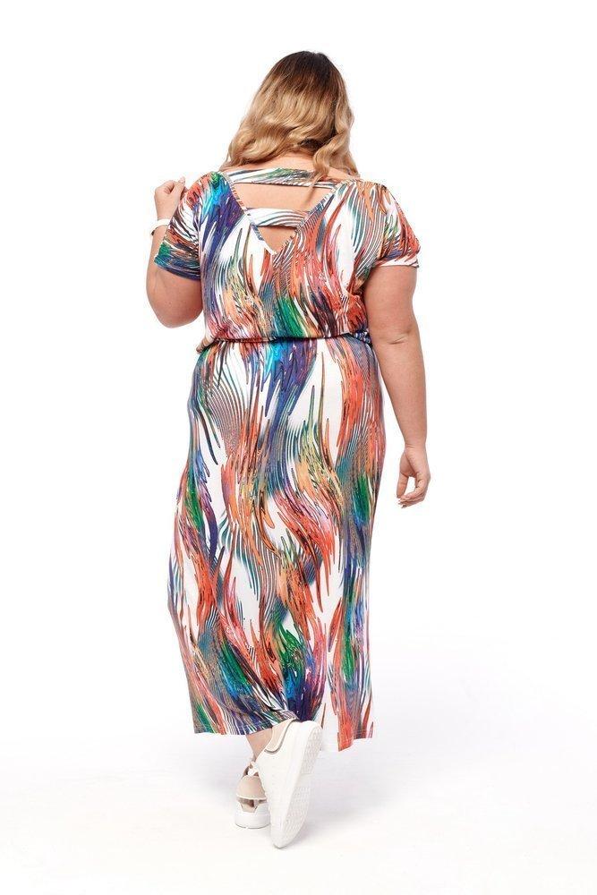 Multikolorowa Sukienka MISTENA Plus Size Wzór 3
