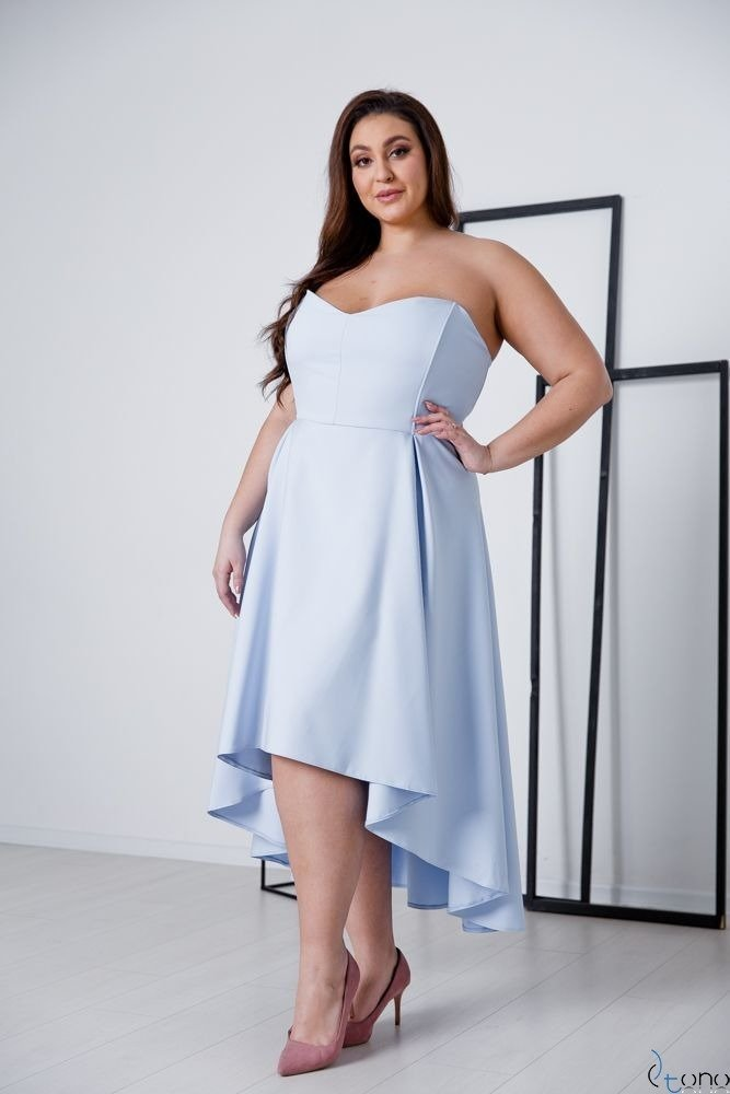 Niebieska Sukienka MARELIA Plus Size