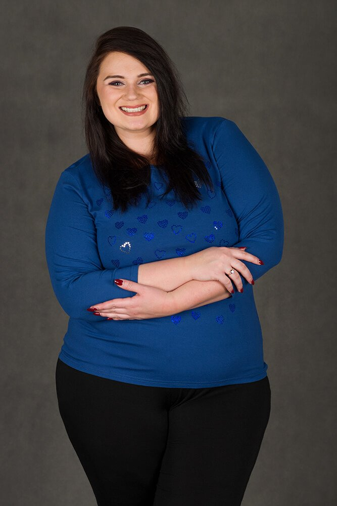 Niebieska bluzka damska ROZA Duże Rozmiary