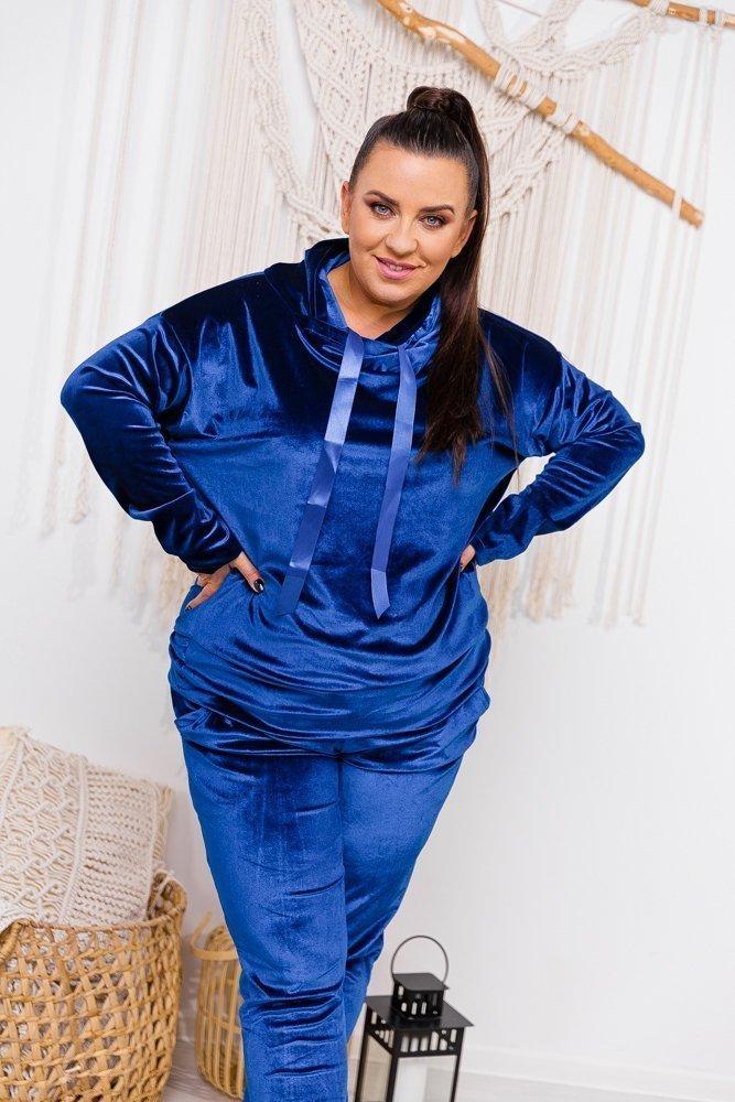 Niebieski Dres MIUNA Plus Size