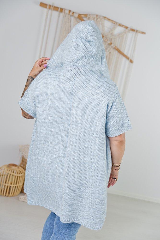 Niebieski Kardigan PARLA Plus Size