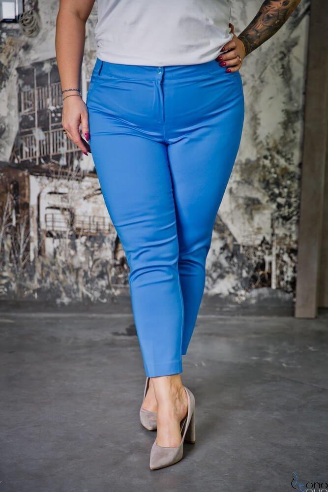 Niebieskie Spodnie ROBBEN Plus Size
