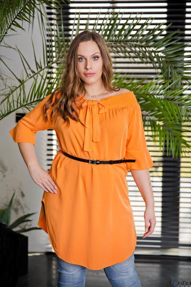 Pomarańczowa Tunika MANOLLA Plus Size