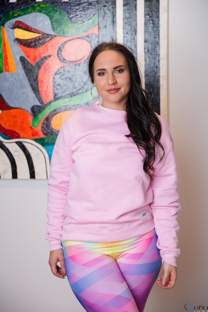 Różowa Bluza BUGGIE Plus Size
