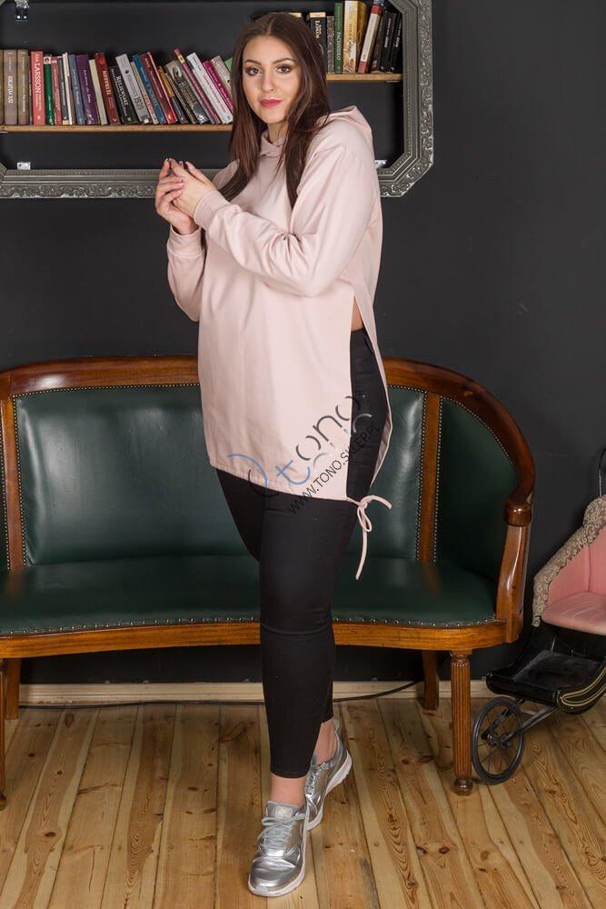 Różowa Bluza damska SYLVANA Casual Plus Size