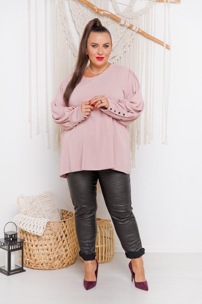 Różowa Bluzka KALIENTE Plus Size