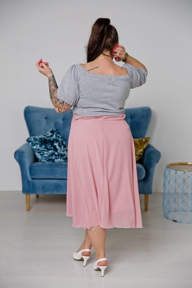 Różowa Spódnica TONNA Plus Size