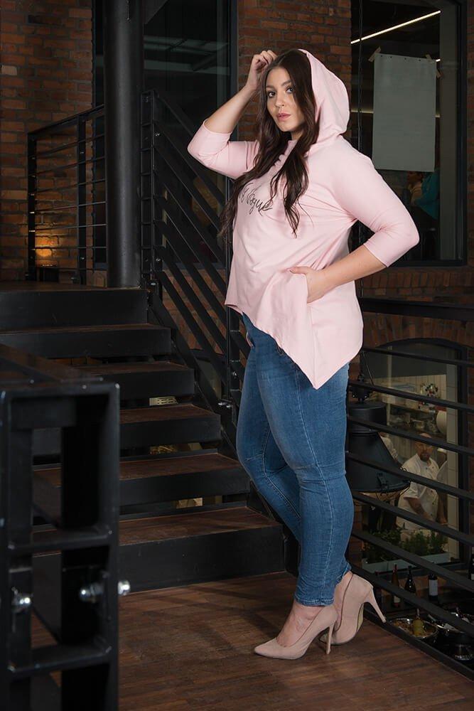 Różowa Tunika damska VOGA Plus Size