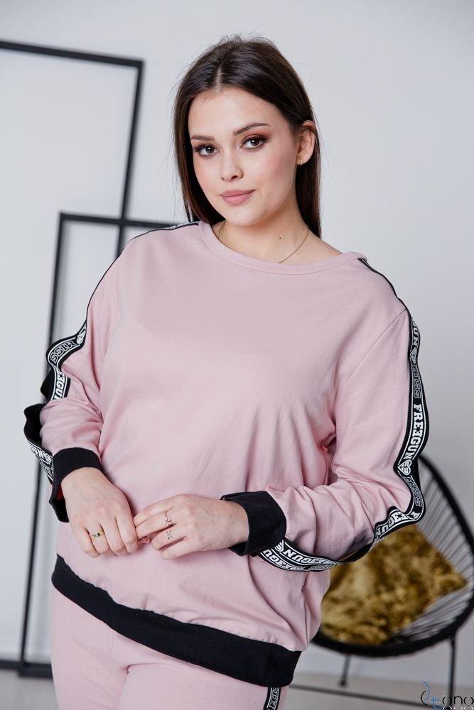 Różowy Dres FRESH Plus Size