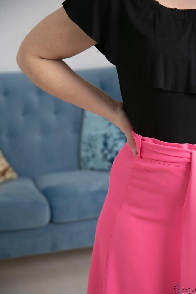 Spódnica CANELLA Fuksja Plus Size