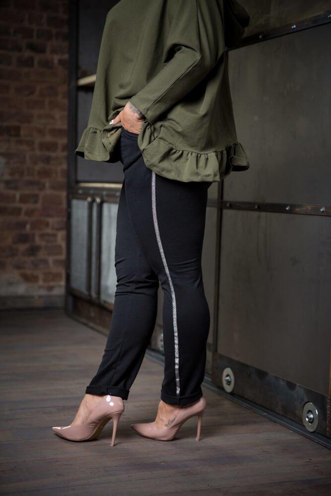 Spodnie JERSEY Lampas Plus Size wzór 2