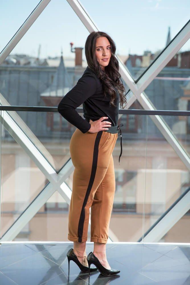 Spodnie MADURO Camel Lampas Plus Size
