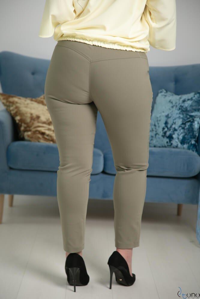 Spodnie RESPER Khaki eleganckie Plus Size