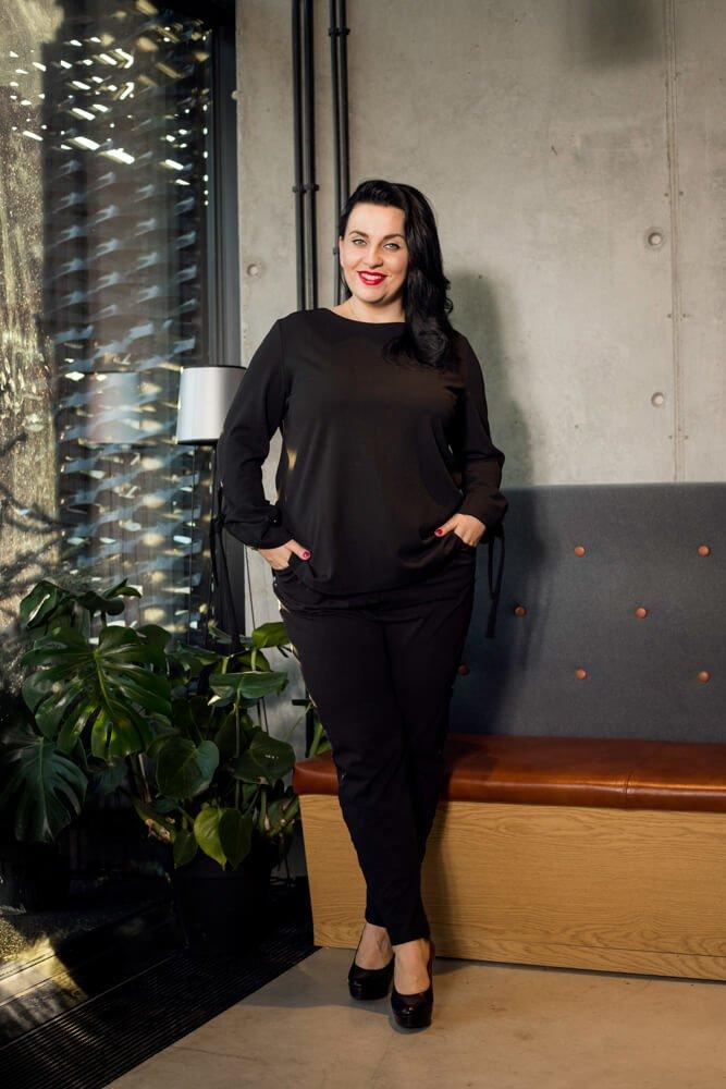 Spodnie damskie BARATA Lampas Plus Size