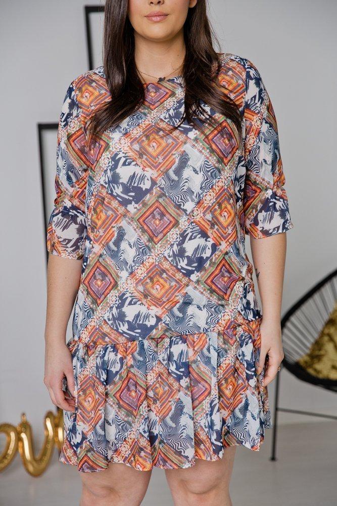 Sukienka ESTI Plus Size Wzór 23