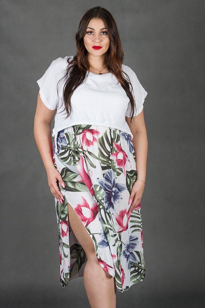 Sukienka FELIPA Maxi Kwiaty