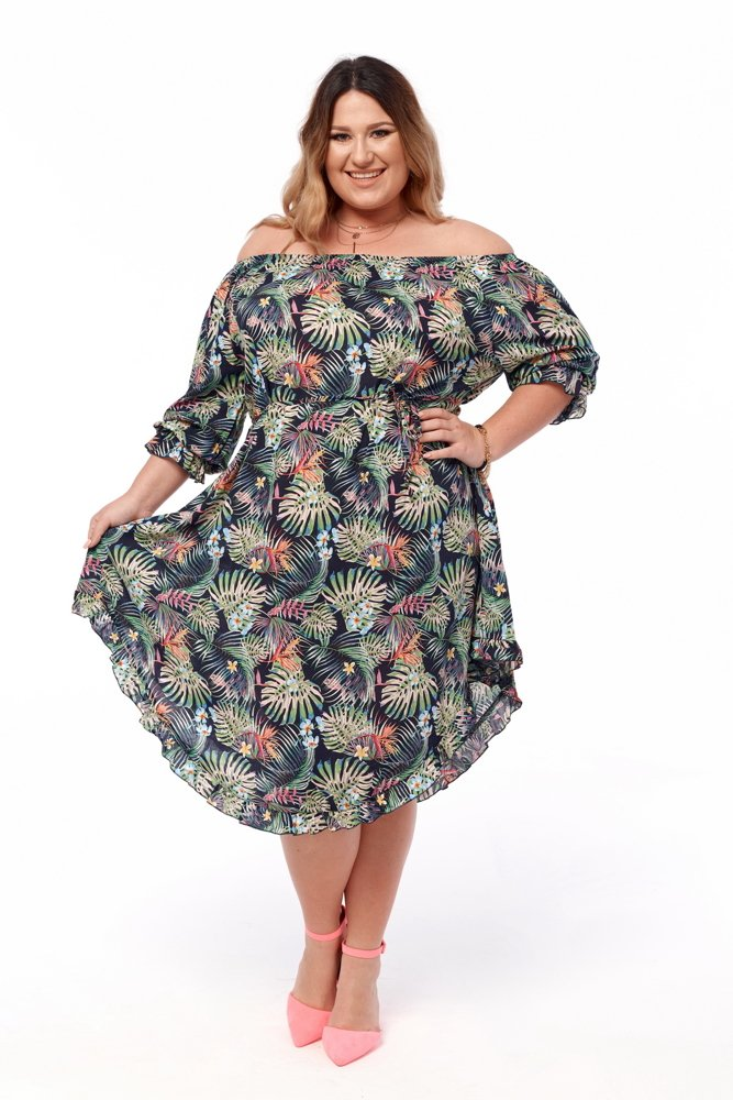 Sukienka FRISTA Plus Size Wzór 1
