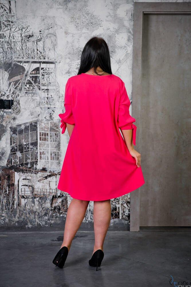 Sukienka MERCY Fuksja Plus Size