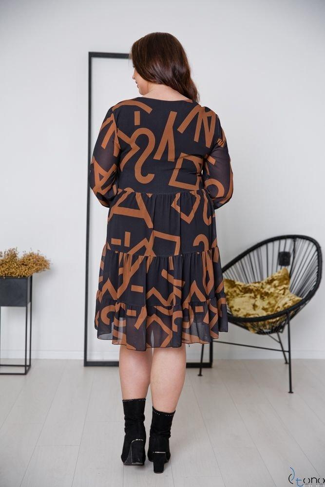 Sukienka MORENNA Plus Size Wzór 5