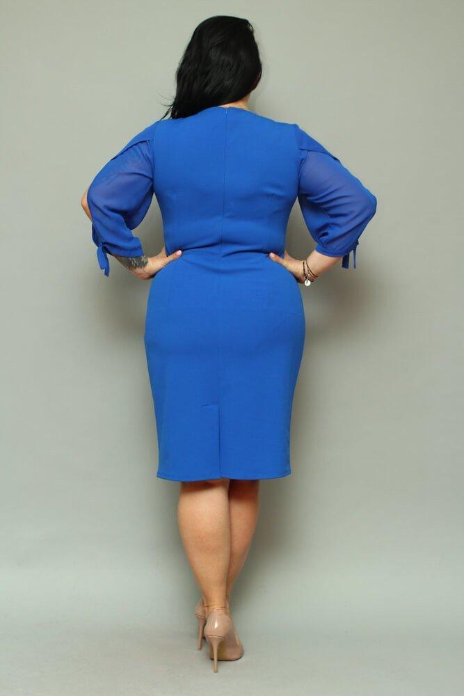 Sukienka RETRA Trapezowa Duże Rozmiary Chabrowa