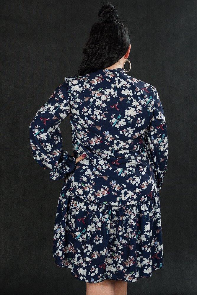 Sukienka SARSA Żabot Plus Size