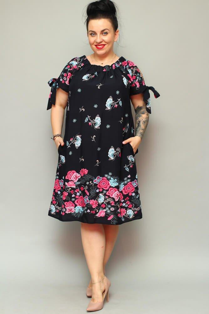Sukienka TORCA Plus Size Hiszpanka