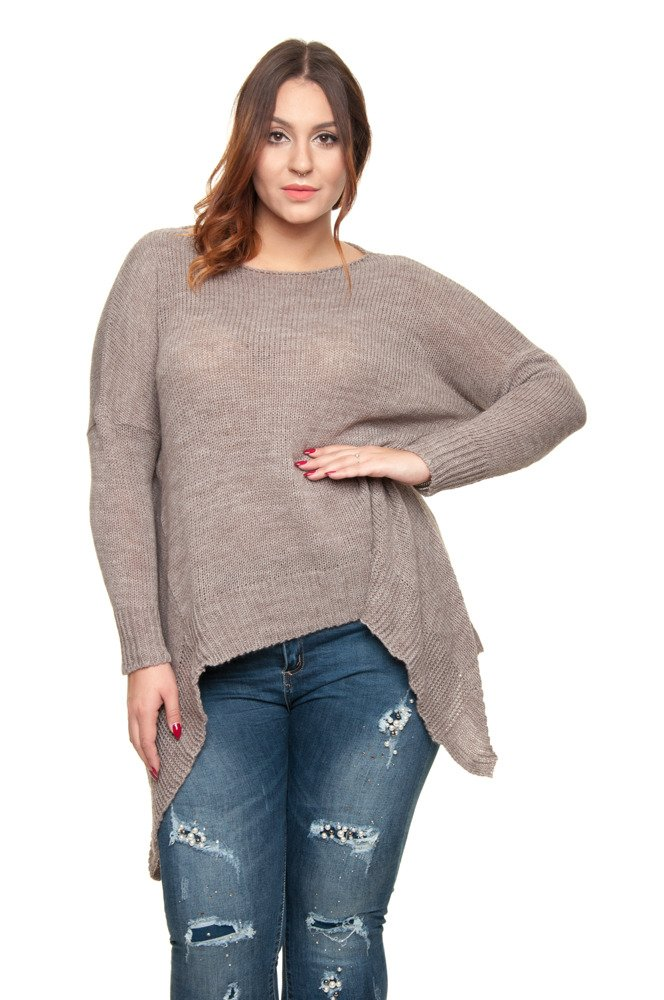Sweter VERRA Ogony Plus Size CAPPUCCINO Plus Size