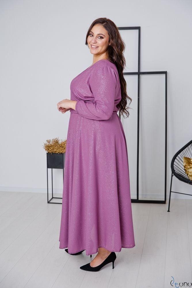 Wrzosowa Sukienka LUMISSA Plus Size