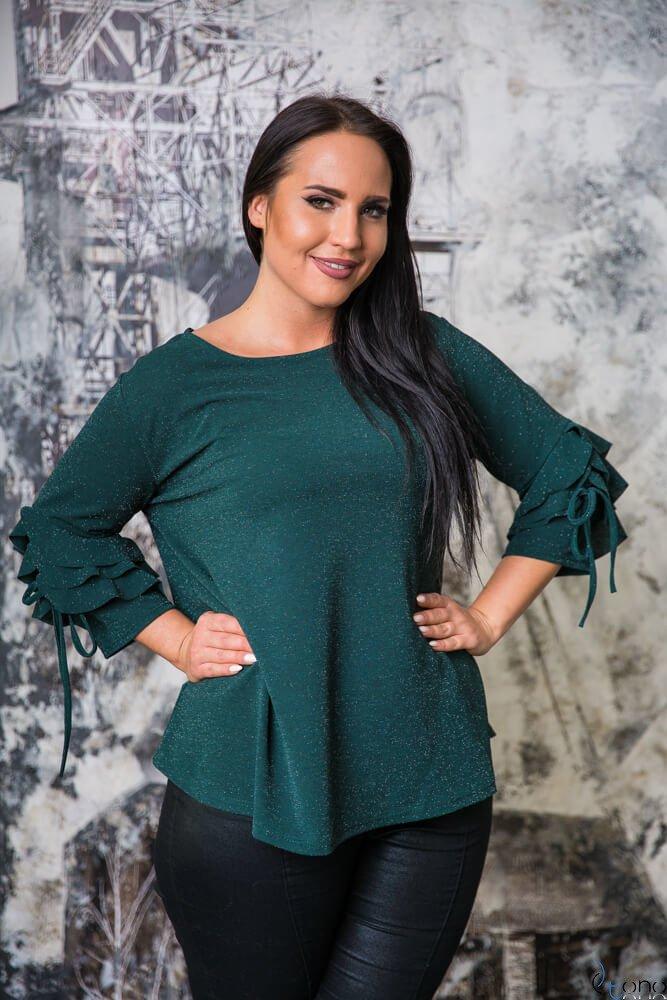 Zielona Bluzka LOFER Plus Size