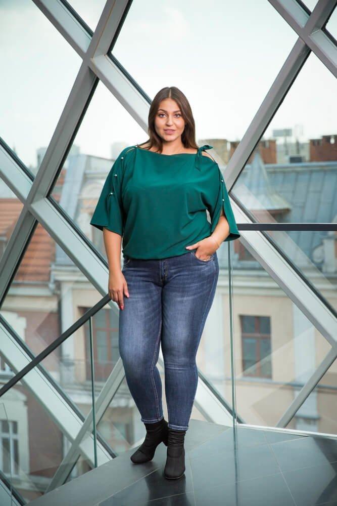 Zielona Bluzka PERSY Plus Size Elegancka