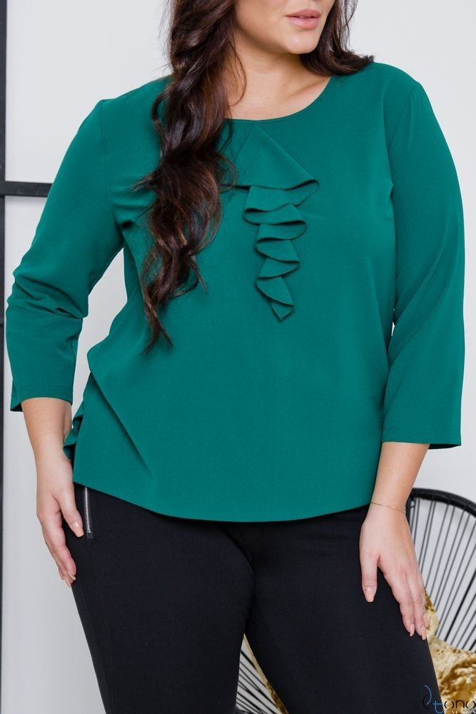 Zielona Bluzka VERTER Plus Size
