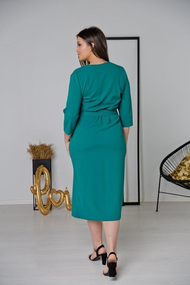 Zielona Sukienka FERRERA Plus Size