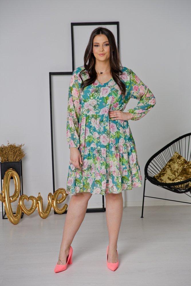 Zielona Sukienka LUCENA Plus Size