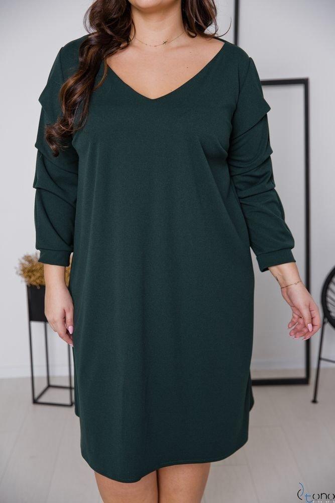 Zielona Sukienka MERIZIA Plus Size