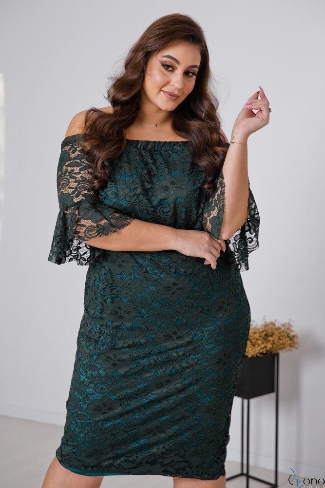Zielona Sukienka MORVY Plus Size