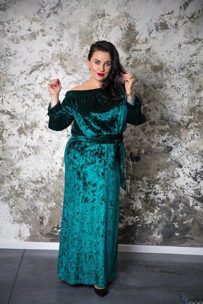 Zielona Sukienka PIENA Plus Size Maxi