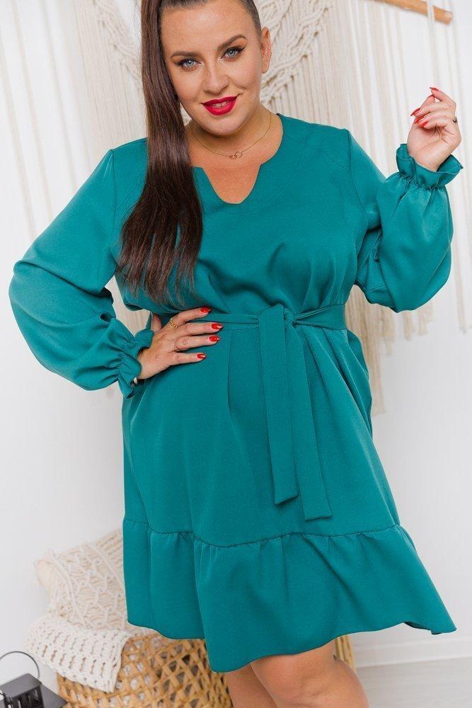 Zielona Sukienka PILONA Plus Size