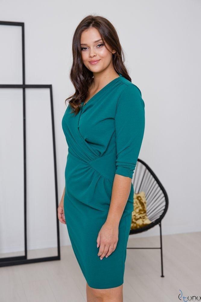 Zielona Sukienka VISPER Kopertowa Plus Size