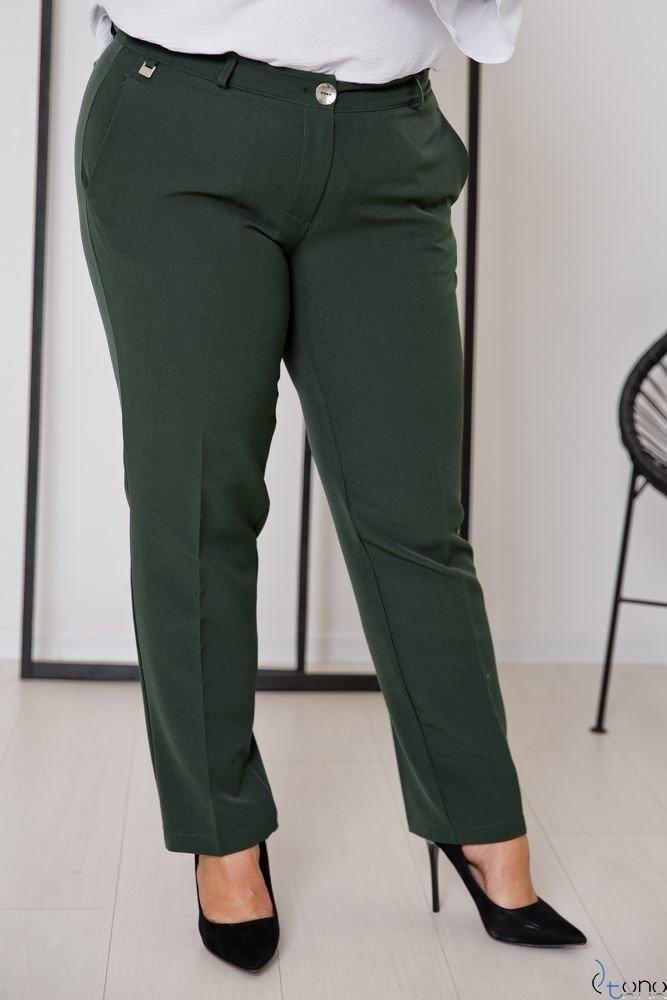 Zielone Spodnie SETIA Plus Size