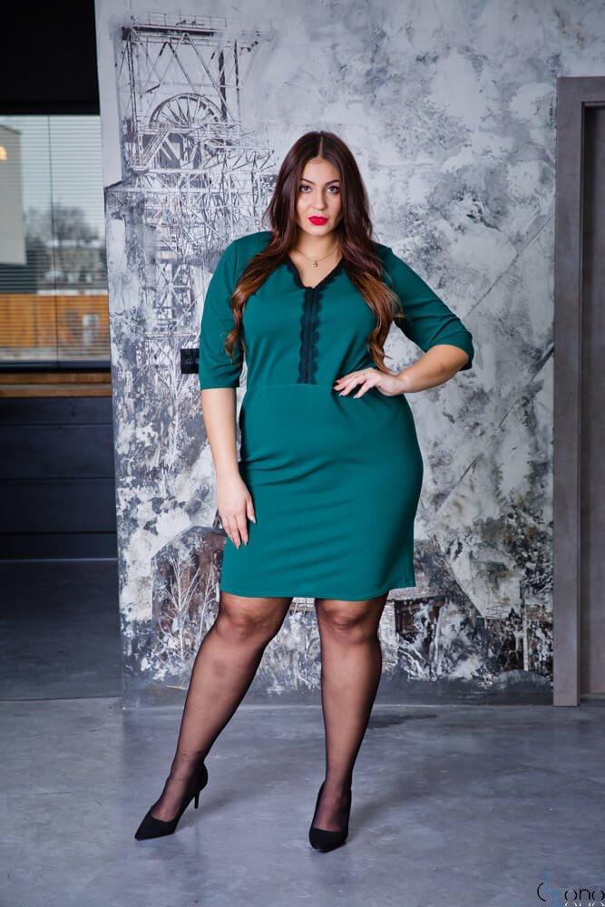 Zielony Sukienka NARIZ Plus Size