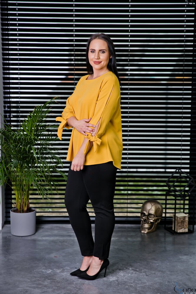 Żółta Bluzka BATLES Plus Size