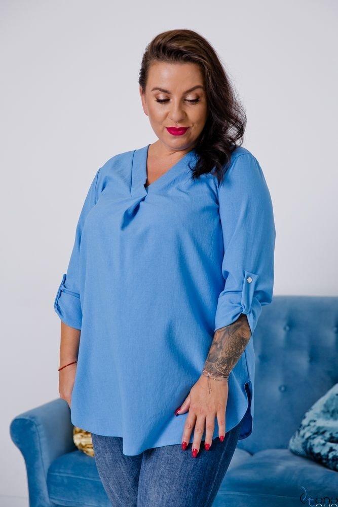 Niebieska Bluzka JUSTIN Plus Size