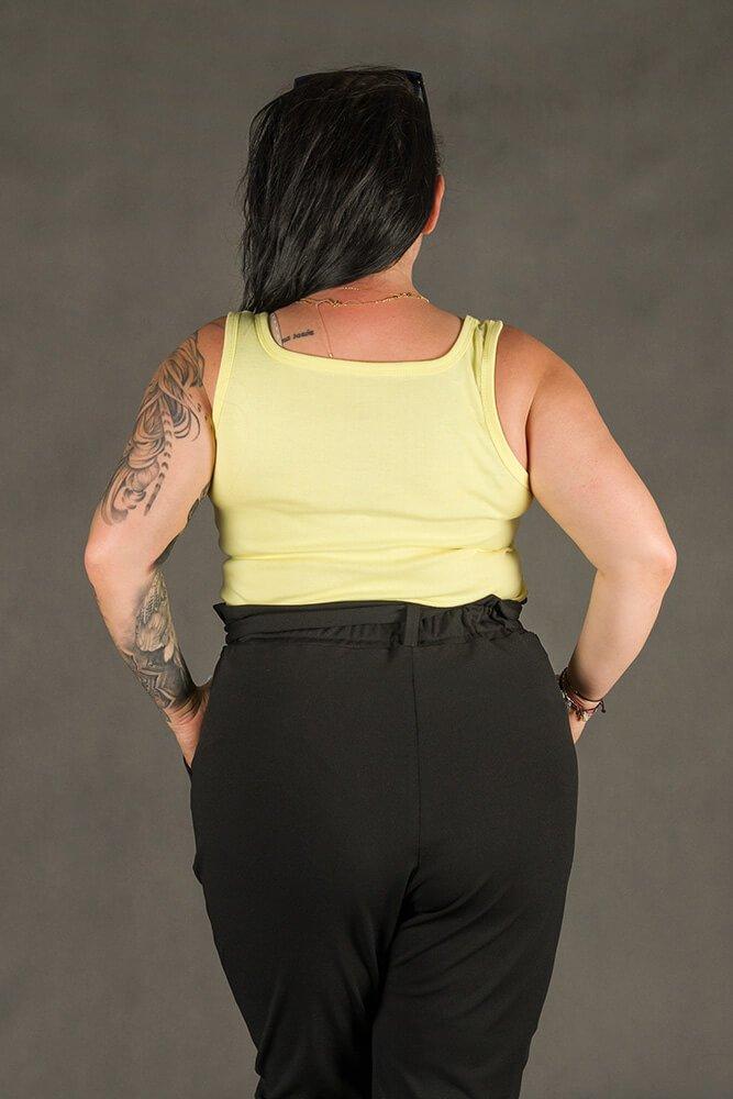 Żółta Bluzka damska B38 Plus Size